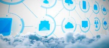 Σύνθετη εικόνα της ψηφιακά σύνθετης εικόνας των σύννεφων θύελλας απεικόνιση αποθεμάτων
