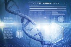Σύνθετη εικόνα της ψηφιακής εικόνας του έλικα DNA απεικόνιση αποθεμάτων
