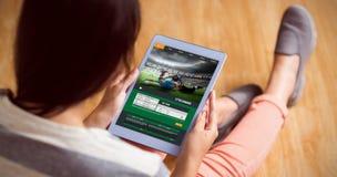 Σύνθετη εικόνα του αθλητισμού app Στοκ φωτογραφίες με δικαίωμα ελεύθερης χρήσης