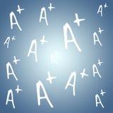 Σύνθετη εικόνα a+ του βαθμού διανυσματική απεικόνιση