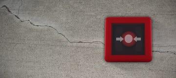 Σύνθετη εικόνα του διακόπτη συναγερμών πυρκαγιάς ελεύθερη απεικόνιση δικαιώματος