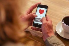 Σύνθετη εικόνα του εθελοντικού κειμένου με τη μορφή καρδιών Στοκ Εικόνες