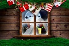 Σύνθετη εικόνα του εορταστικού στεφανιού Χριστουγέννων Στοκ Φωτογραφία