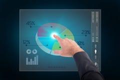 Σύνθετη εικόνα του επιχειρηματία που δείχνει με το δάχτυλό του Στοκ Εικόνα