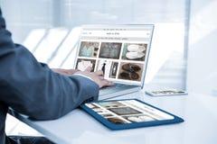 Σύνθετη εικόνα του καταστήματος με την αρχική σελίδα ύφους στοκ εικόνες με δικαίωμα ελεύθερης χρήσης