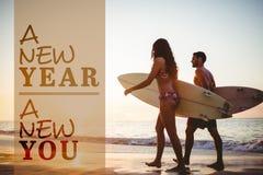 Σύνθετη εικόνα του νέου έτους νέου εσείς Στοκ Εικόνες