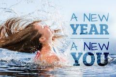 Σύνθετη εικόνα του νέου έτους νέου εσείς Στοκ Φωτογραφίες