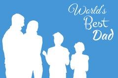 Σύνθετη εικόνα του παγκόσμιου καλύτερου μπαμπά Στοκ Εικόνες