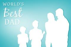 Σύνθετη εικόνα του παγκόσμιου καλύτερου μπαμπά Στοκ Φωτογραφίες