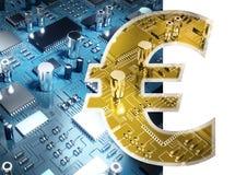 Σύνθετη εικόνα του συμβόλου του ευρο- νομίσματος σημαδιών Στοκ φωτογραφία με δικαίωμα ελεύθερης χρήσης