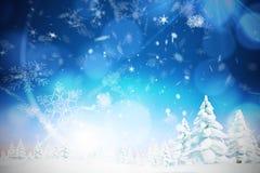 Σύνθετη εικόνα του χιονιού Στοκ εικόνα με δικαίωμα ελεύθερης χρήσης
