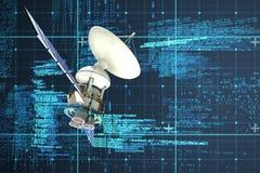 Σύνθετη εικόνα του ψηφιακά παραγμένου δορυφόρου ηλιακής ενέργειαςεικόνας ofτρισδιάστατου απεικόνιση αποθεμάτων