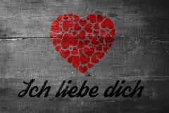 Σύνθετη εικόνα του ich liebe dich Στοκ εικόνες με δικαίωμα ελεύθερης χρήσης
