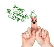 Σύνθετη εικόνα των δάχτυλων ημέρας patricks διανυσματική απεικόνιση