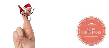 Σύνθετη εικόνα των δάχτυλων Χριστουγέννων Στοκ Εικόνα