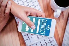 Σύνθετη εικόνα των εικονιδίων smartphone apps Στοκ Φωτογραφίες