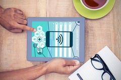 Σύνθετη εικόνα των εικονιδίων smartphone apps Στοκ φωτογραφίες με δικαίωμα ελεύθερης χρήσης
