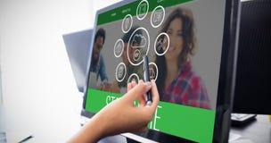 Σύνθετη εικόνα των εικονιδίων smartphone apps Στοκ Φωτογραφία