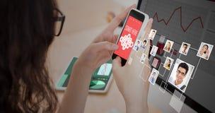 Σύνθετη εικόνα των εικονιδίων smartphone apps Στοκ εικόνα με δικαίωμα ελεύθερης χρήσης