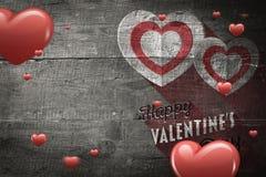 Σύνθετη εικόνα των καρδιών Στοκ φωτογραφία με δικαίωμα ελεύθερης χρήσης