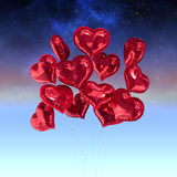 Σύνθετη εικόνα των μπαλονιών καρδιών Στοκ Φωτογραφίες
