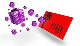 Σύνθετη εικόνα των πετώντας χριστουγεννιάτικων δώρων Στοκ φωτογραφίες με δικαίωμα ελεύθερης χρήσης