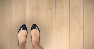 Σύνθετη εικόνα των ποδιών businesswomans Στοκ Φωτογραφίες