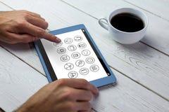 Σύνθετη εικόνα των τηλεφωνικών apps εικονιδίων Στοκ φωτογραφίες με δικαίωμα ελεύθερης χρήσης