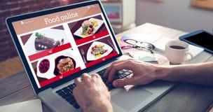 Σύνθετη εικόνα των τροφίμων app Στοκ φωτογραφία με δικαίωμα ελεύθερης χρήσης