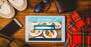 Σύνθετη εικόνα των τροφίμων app Στοκ Φωτογραφίες
