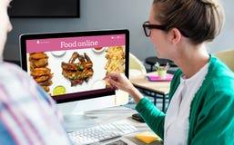 Σύνθετη εικόνα των τροφίμων app Στοκ εικόνα με δικαίωμα ελεύθερης χρήσης