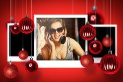Σύνθετη εικόνα των φωτογραφιών Χριστουγέννων Στοκ Εικόνες
