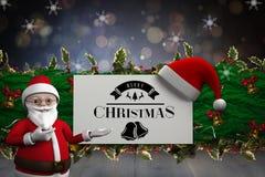 Σύνθετη εικόνα των χαριτωμένων κινούμενων σχεδίων Άγιος Βασίλης Στοκ φωτογραφία με δικαίωμα ελεύθερης χρήσης