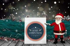 Σύνθετη εικόνα των χαριτωμένων κινούμενων σχεδίων Άγιος Βασίλης Στοκ Φωτογραφίες