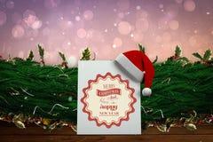 Σύνθετη εικόνα των χαριτωμένων κινούμενων σχεδίων Άγιος Βασίλης Στοκ εικόνα με δικαίωμα ελεύθερης χρήσης