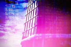 Σύνθετη εικόνα των ψηφιακά παραγμένων τρισδιάστατων κτιρίων γραφείωνεικόνας ofδιανυσματική απεικόνιση
