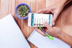Σύνθετη εικόνα app smartphone των επιλογών Στοκ εικόνες με δικαίωμα ελεύθερης χρήσης