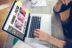 Σύνθετη εικόνα app smartphone των επιλογών Στοκ Φωτογραφία