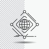 Σύνθετος, σφαιρικός, Διαδίκτυο, καθαρός, εικονίδιο γραμμών Ιστού στο διαφανές υπόβαθρο Μαύρη διανυσματική απεικόνιση εικονιδίων απεικόνιση αποθεμάτων