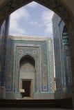 Σύνθετος των μαυσωλείων shah-ι-Zinda, Σάμαρκαντ, Ουζμπεκιστάν Στοκ Φωτογραφίες