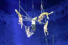 Σύνθετο εναέριο acrobatics Στοκ Εικόνες