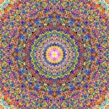 Σύνθετο ζωηρόχρωμο σχέδιο Mandala στοκ φωτογραφίες