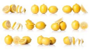 Σύνθετο με το κίτρινο λεμόνι Στοκ Εικόνα
