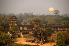 Σύνθετο angkor ναών wah στην Καμπότζη Στοκ εικόνες με δικαίωμα ελεύθερης χρήσης