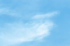 Σύννεφα αέρα στο μπλε ουρανό Στοκ Φωτογραφία