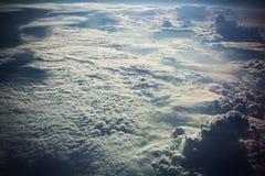 σύννεφα από το αεροπλάνο Στοκ Εικόνες