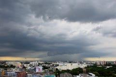 Σύννεφα βροχής στη Μπανγκόκ και την εγγύτητά του Στοκ Εικόνες