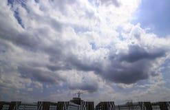 σύννεφα βροχερά Στοκ Φωτογραφίες