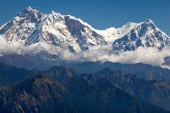 Σύννεφα γύρω από Annapurna στοκ εικόνες με δικαίωμα ελεύθερης χρήσης