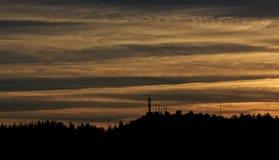 Σύννεφα ηλιοβασιλέματος Στοκ εικόνες με δικαίωμα ελεύθερης χρήσης